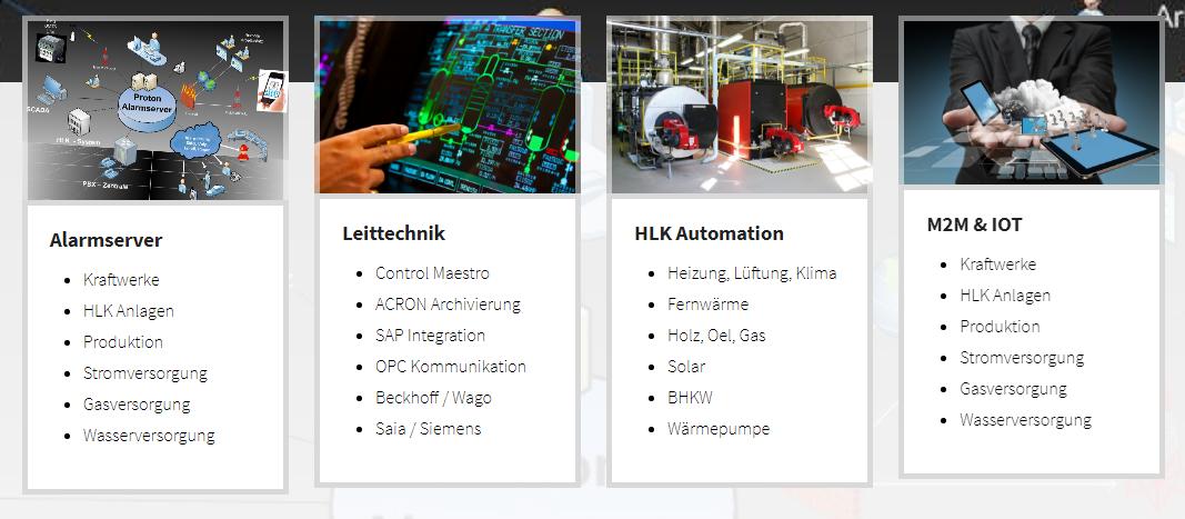 Hauptseite der Proton Automation GmbH